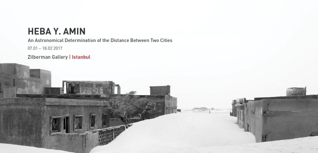 """Heba Y. Amin """"İki Şehir Arasındaki Mesafenin Gökbilimsel Tayini"""", 18 Şubat'a kadar, Zilberman Gallery"""