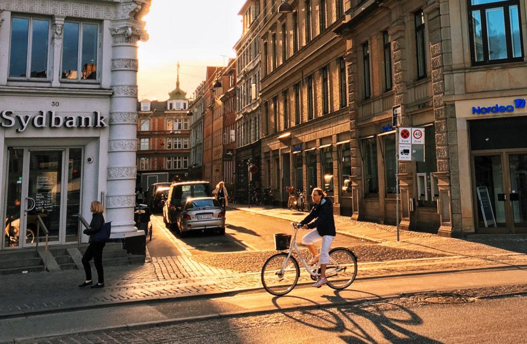 Kopenhag'da gün batımı