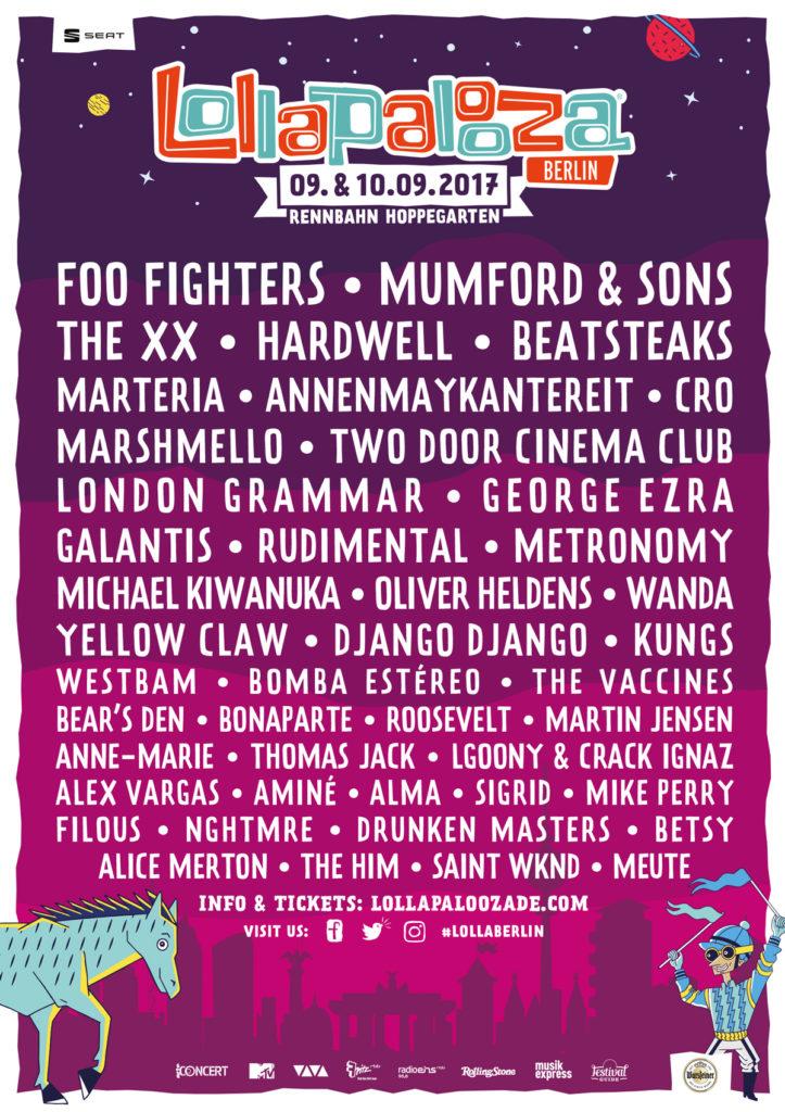 Lollapalooza Berlin, 9-10 Eylül, Rennbahn Hoppegarten