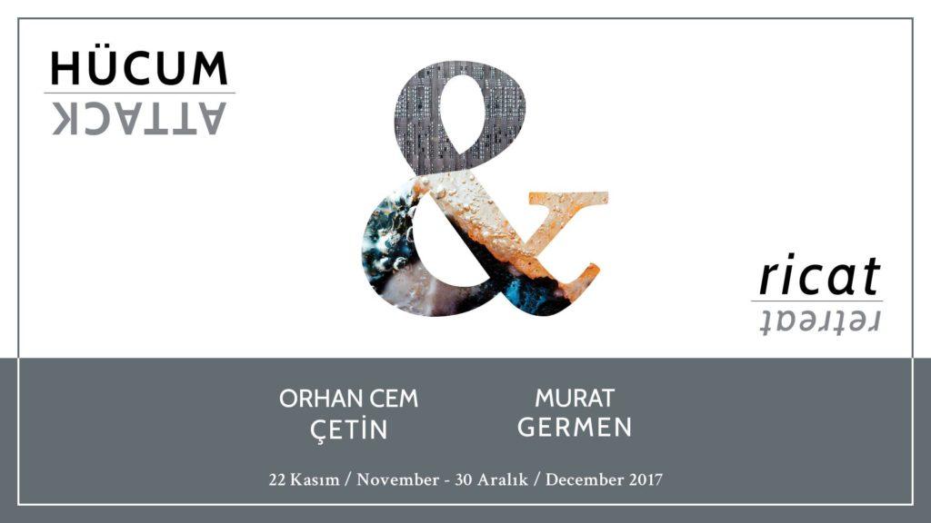 """Orhan Cem Çetin + Murat Germen """"Hücum ve Ricat"""", 30 Aralık'a kadar, Evin Sanat Galerisi"""