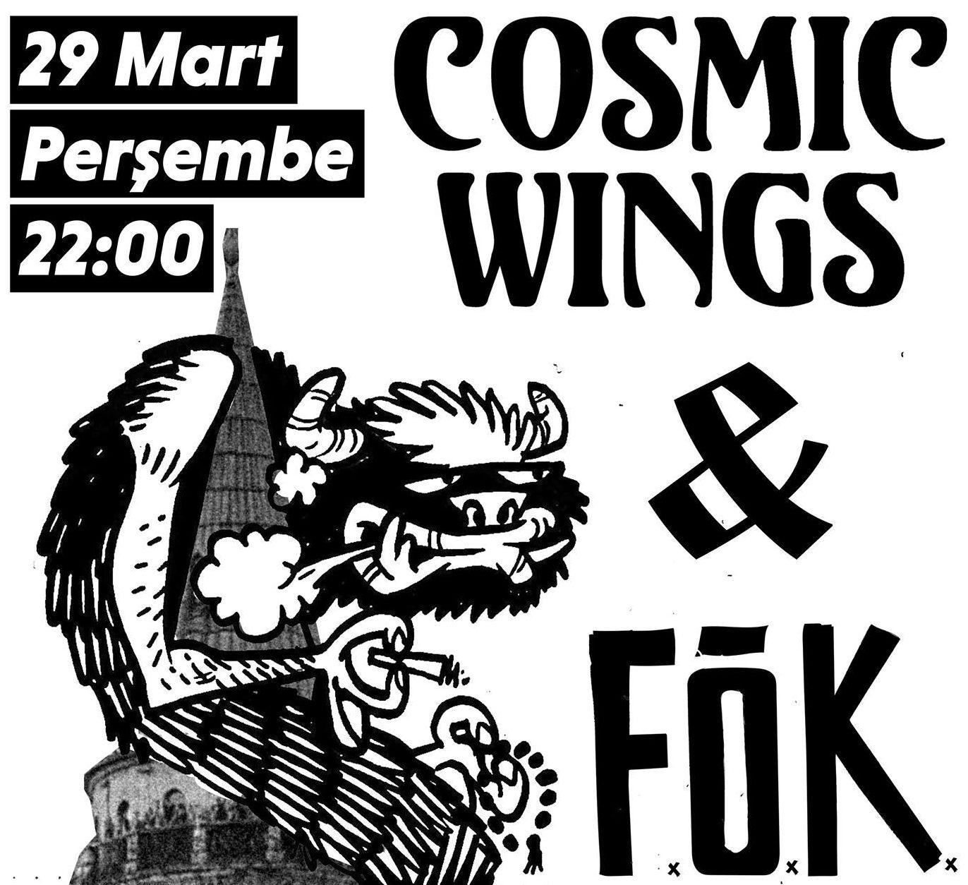 Cosmic Wings + FÖK, 29 Mart Perşembe, Peyote