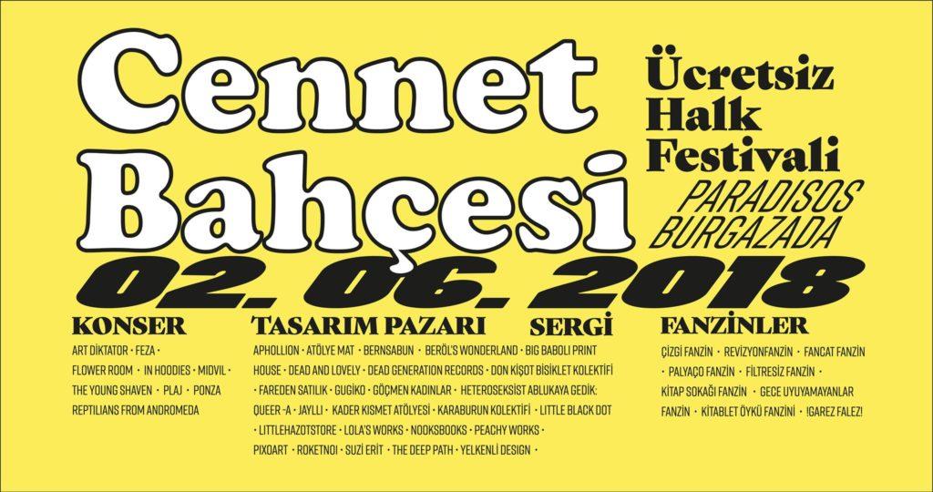 Cennet Bahçesi Ücretsiz Halk Festivali, 2 Haziran Cumartesi, Cennet Bahçesi Burgazada