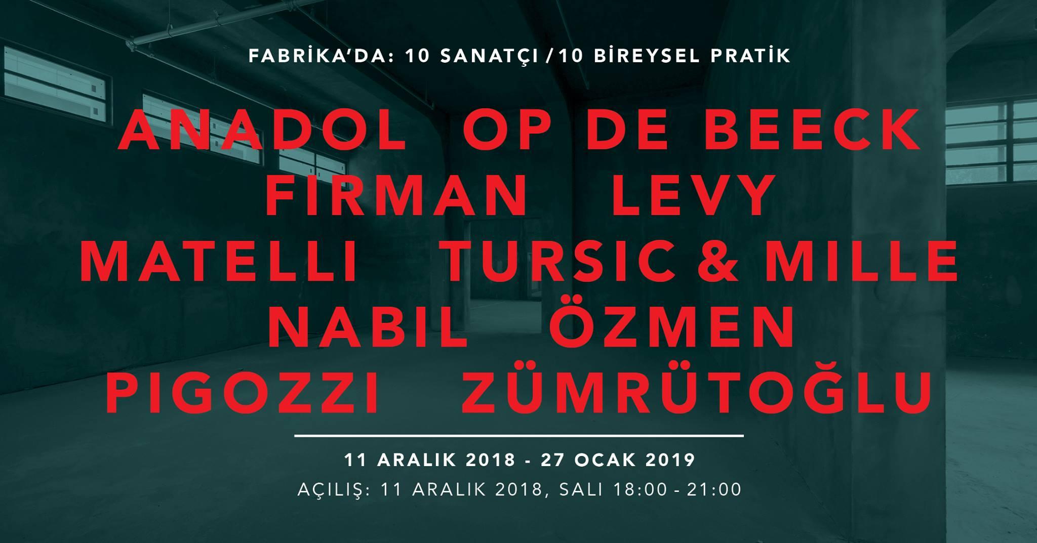 Fabrika'da 10 Sanatçı, 27 Ocak'a kadar, Pilevneli Mecidiyeköy