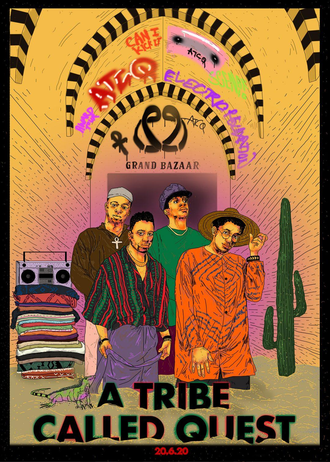Dream Gigs Illustrated: Simay Bahçıvan - A Tribe Called Quest @ Kapalıçarşı
