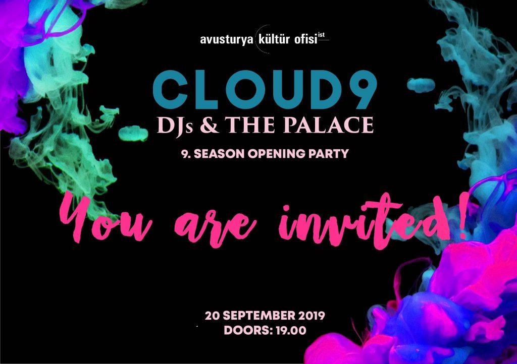 Cloud9 - DJs & the Palace, 20 Eylül Cuma, Avusturya Kültür Ofisi