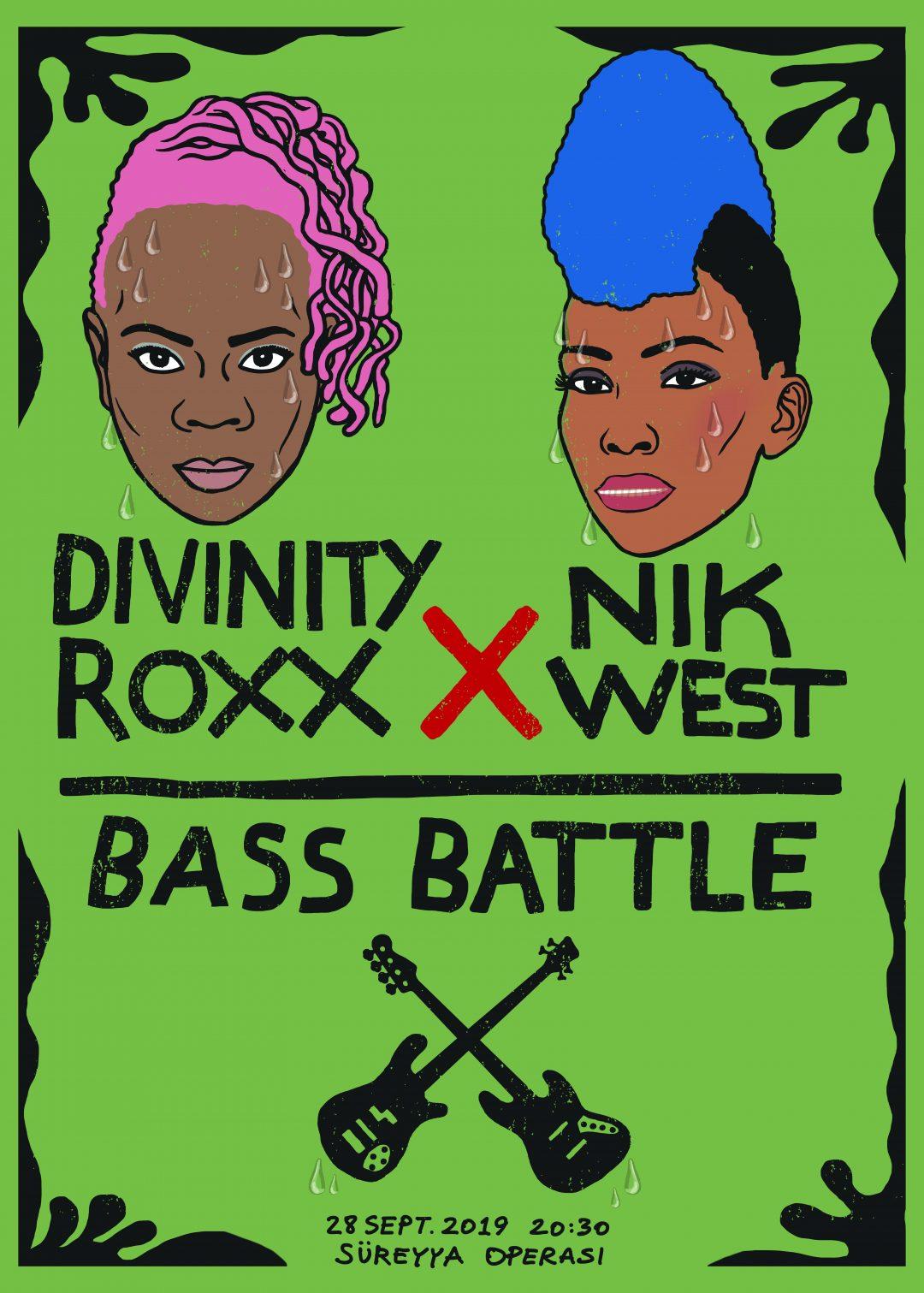 Dream Gigs Illustrated: Çağlar Bıyıkoğlu - Divinity Roxx vs. Nik West @ Süreyya Operası